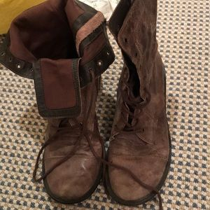 Distressed Combat Boots